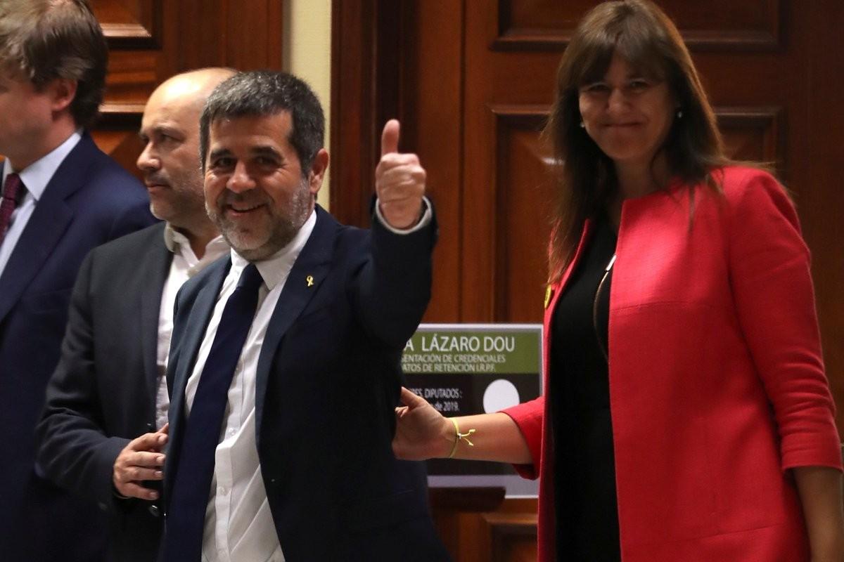 Jordi Sànchez i Laura Borràs, aquest dilluns al Congrés dels Diputats