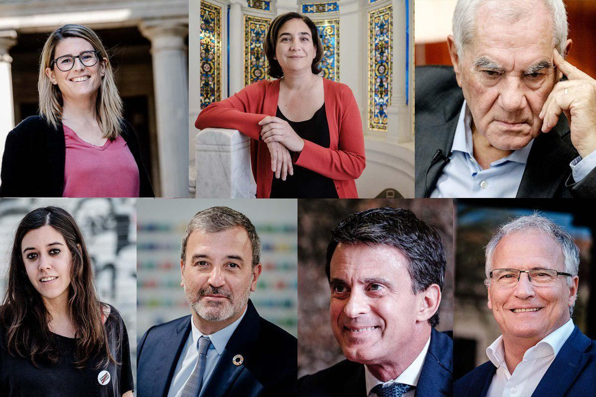 Els principals candidats a l'alcaldia de Barcelona