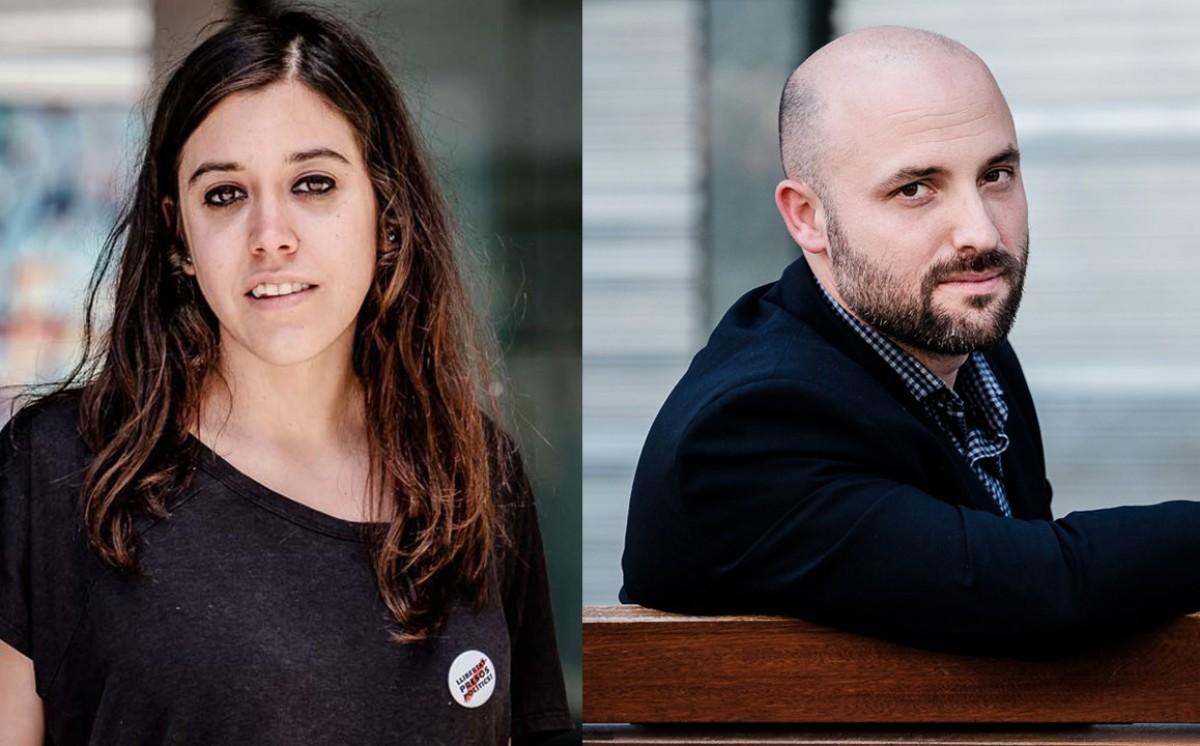 Anna Saliente i Jordi Graupera, en disputa pel vot de l'independentisme enfadat.