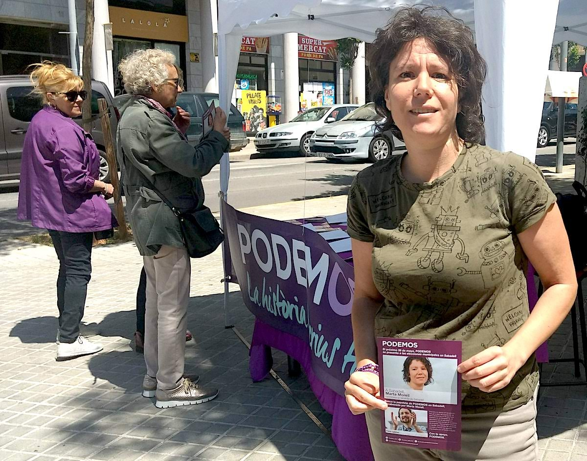 Marta Morell, candidata de Podemos Sabadell