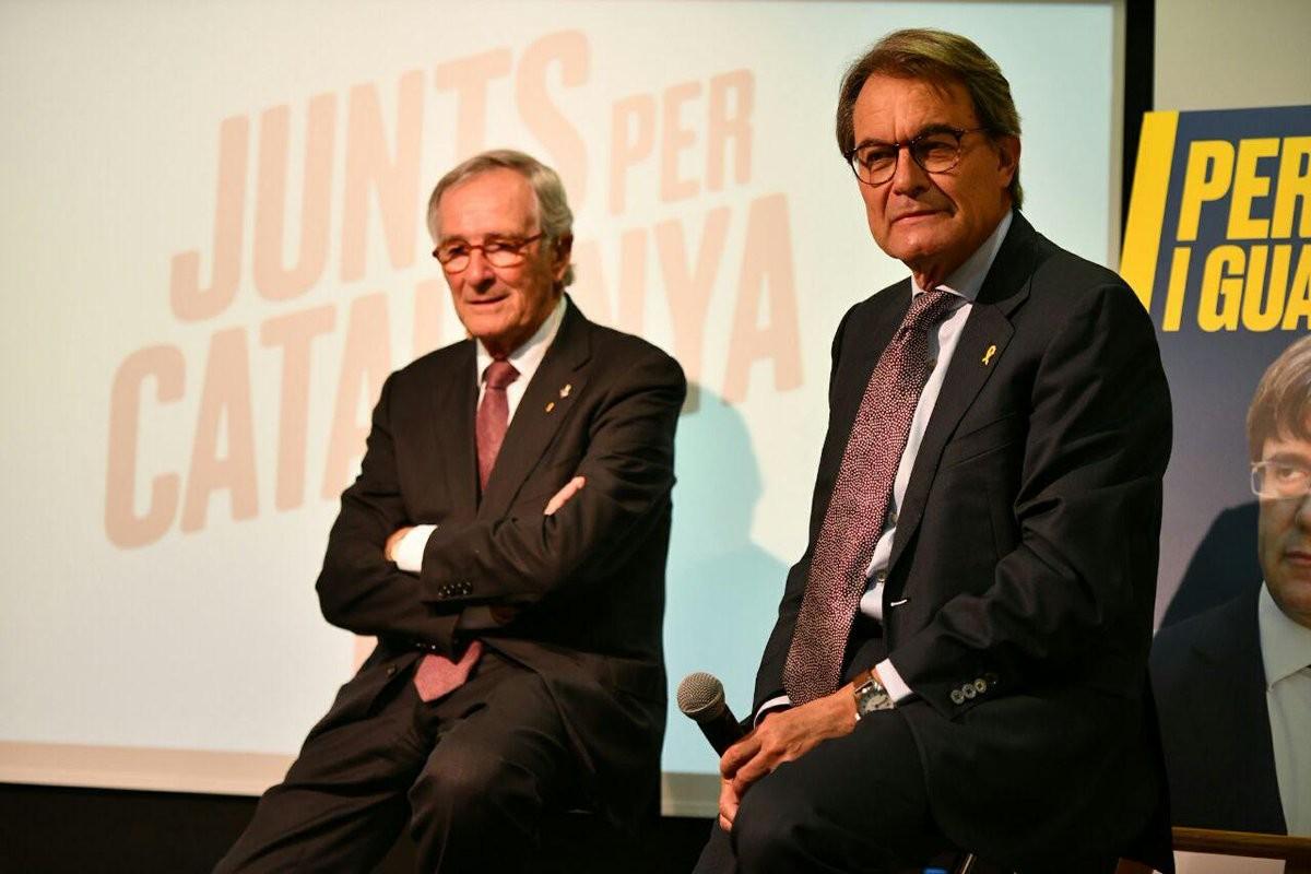 Xavier Trias i Artur Mas, aquest dimarts a la seu de JxCat