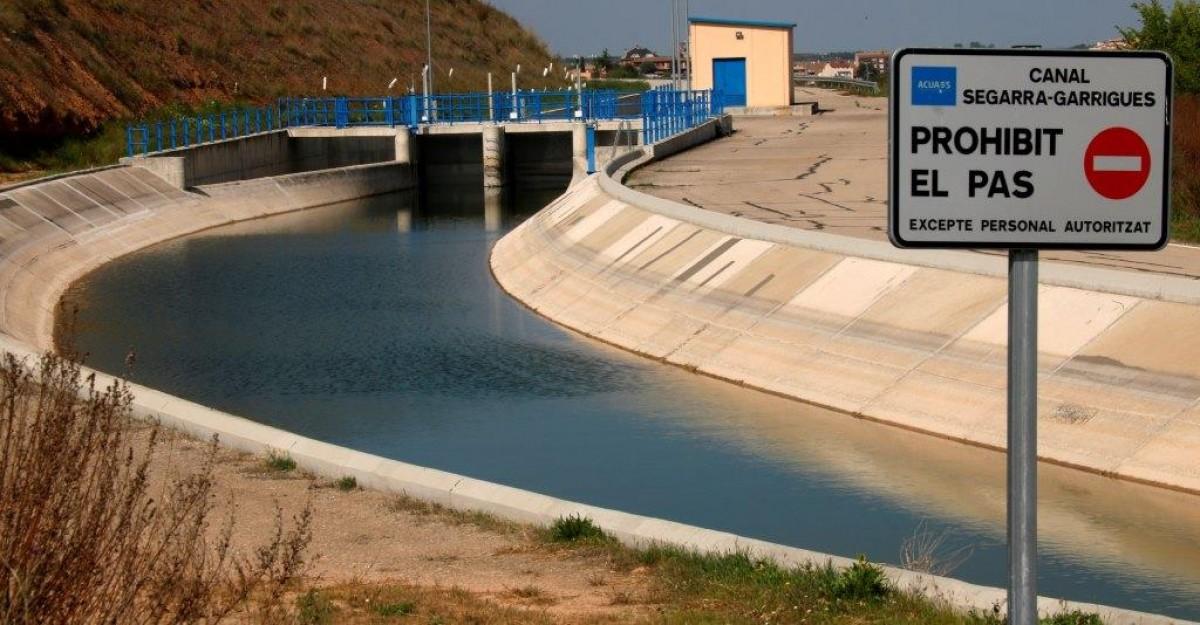 Imatge del canal Segarra-Garrigues