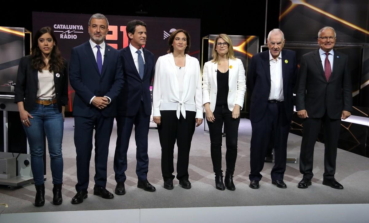 Debat dels candidats a Barcelona a TV3.