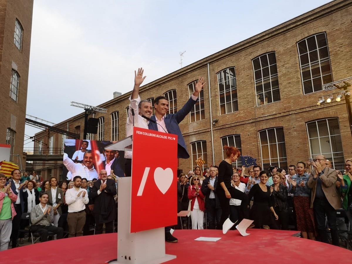 Sánchez i Collboni a l'acte central del PSC