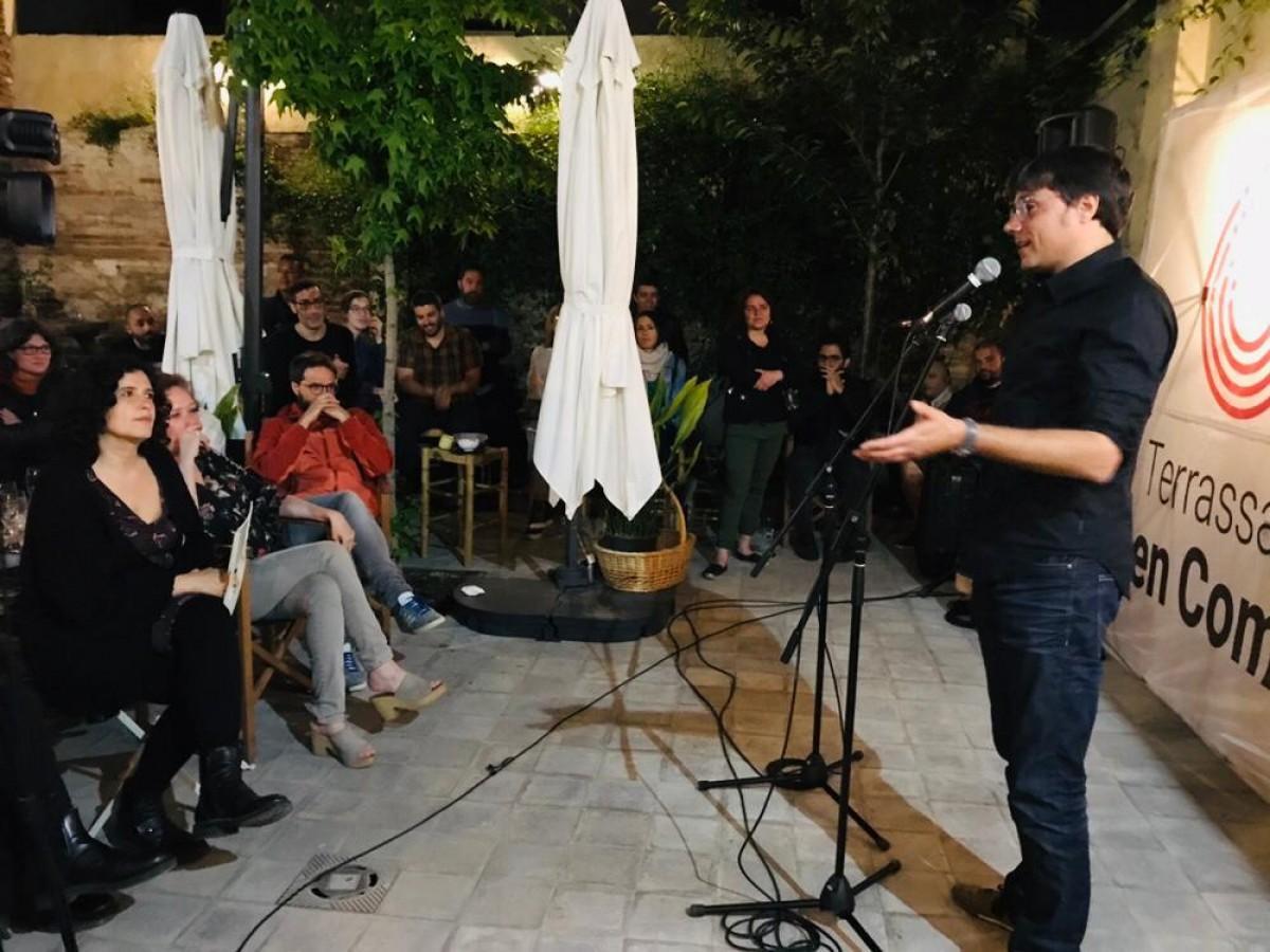 Xavi Matilla a l'acte final de campanya de TeC.