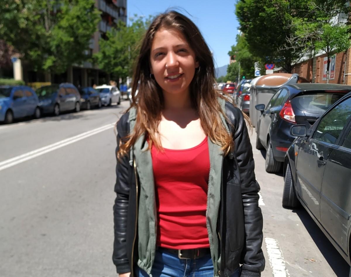 La candidata de la CUP a Granollers, Raquel Poveda