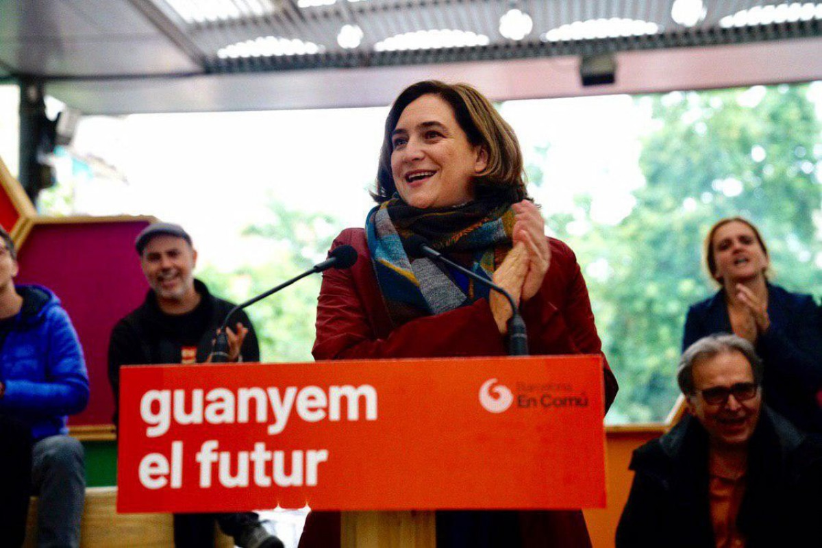 Ada Colau, aquest divendres en el míting de tancament de Barcelona en Comú.