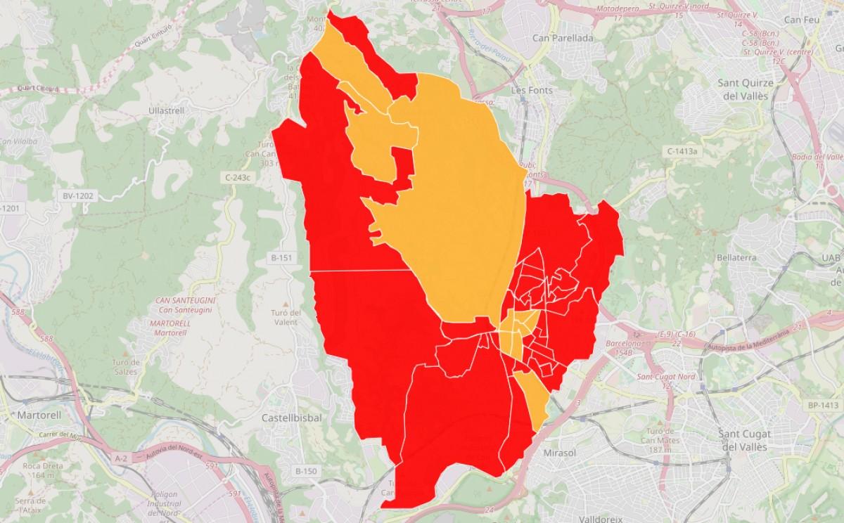 Mapa dels resultats de les eleccions municipals a Rubí, barri a barri