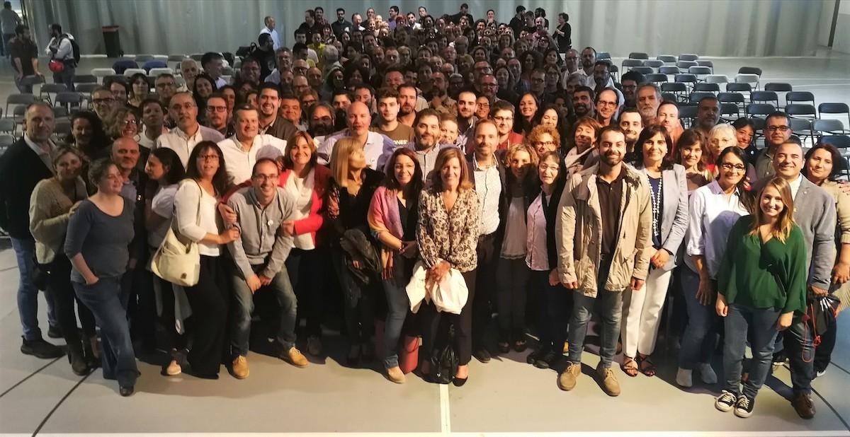 Els regidors electes d'ERC de les comarques gironines a Palamós.