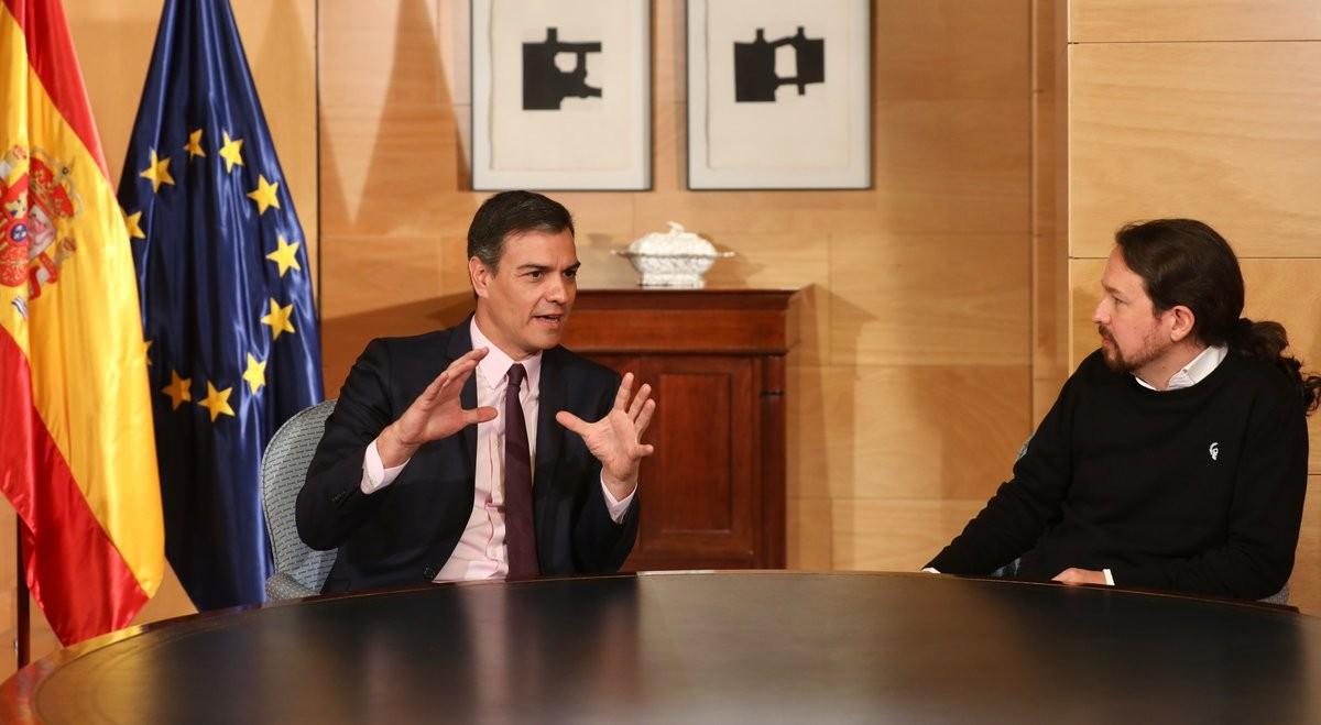 Pedro Sánchez i Pablo Iglesias, en una reunió recent