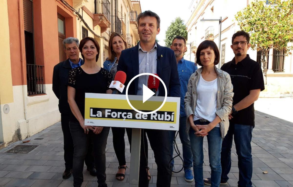 Els set regidors d'ERC del nou mandat a l'Ajuntament de Rubí