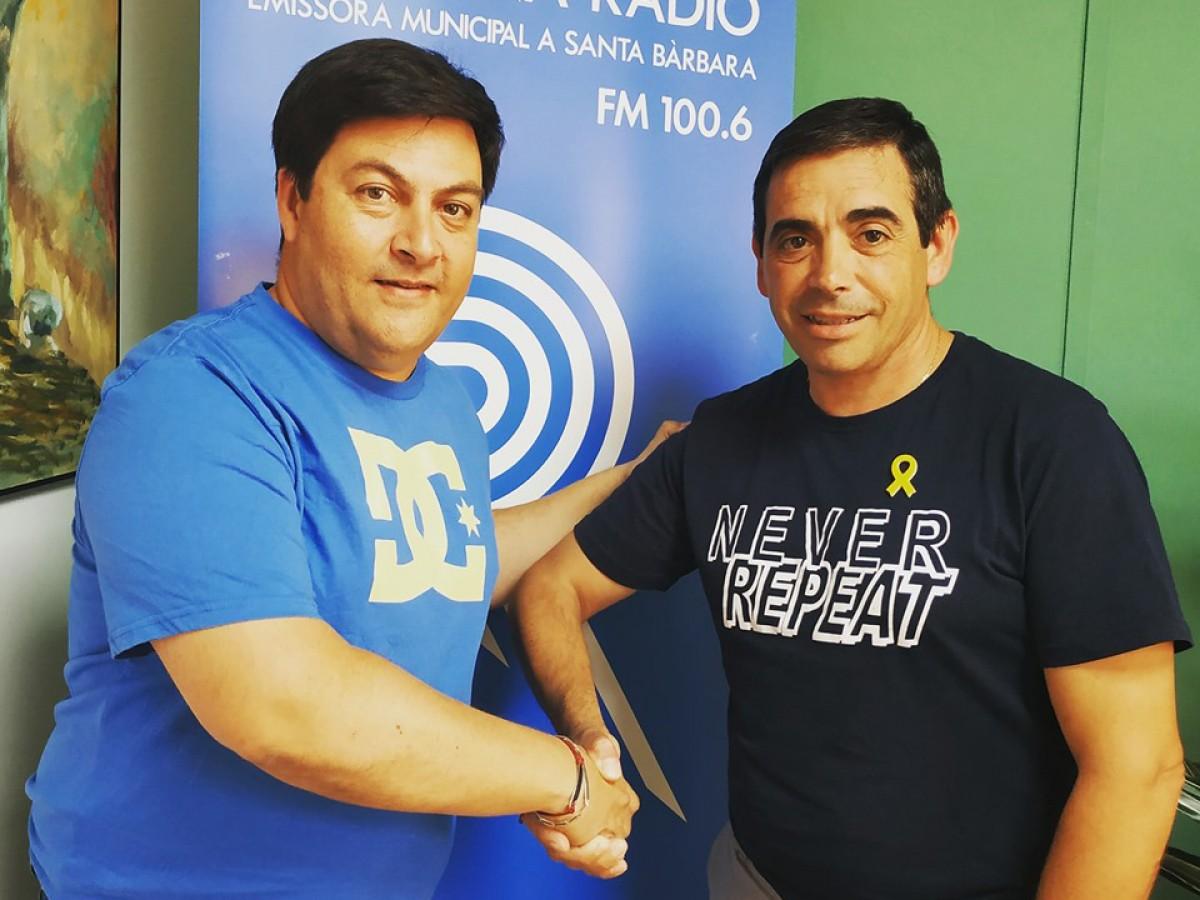 Alfred Blanch i Manel Crespo en una imatge d'arxiu del dia que van fer oficial l'acord.