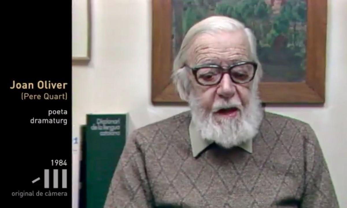 Joan Oliver, en una entrevista de l'any 1984