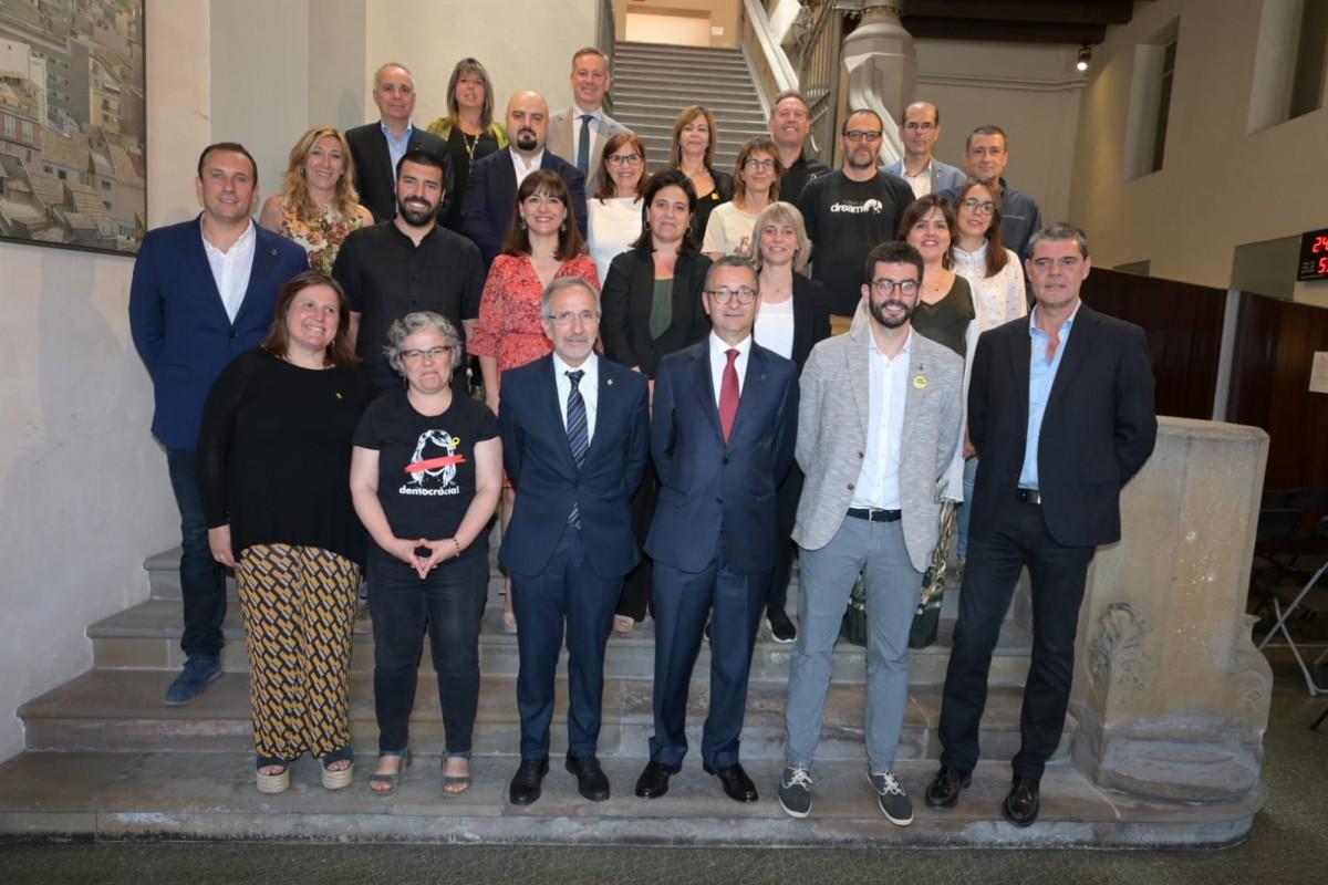 Els 25 regidors que formen el nou ple municipal