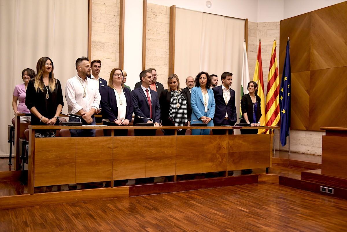 La bancada socialista del nou ple de Sabadell