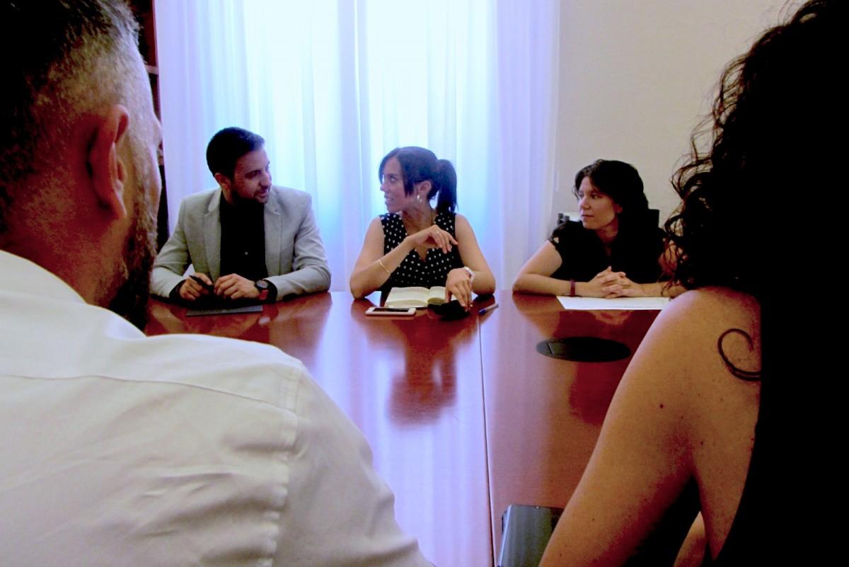 Marta Farrés, entre Pol Gibert i Marta Morell