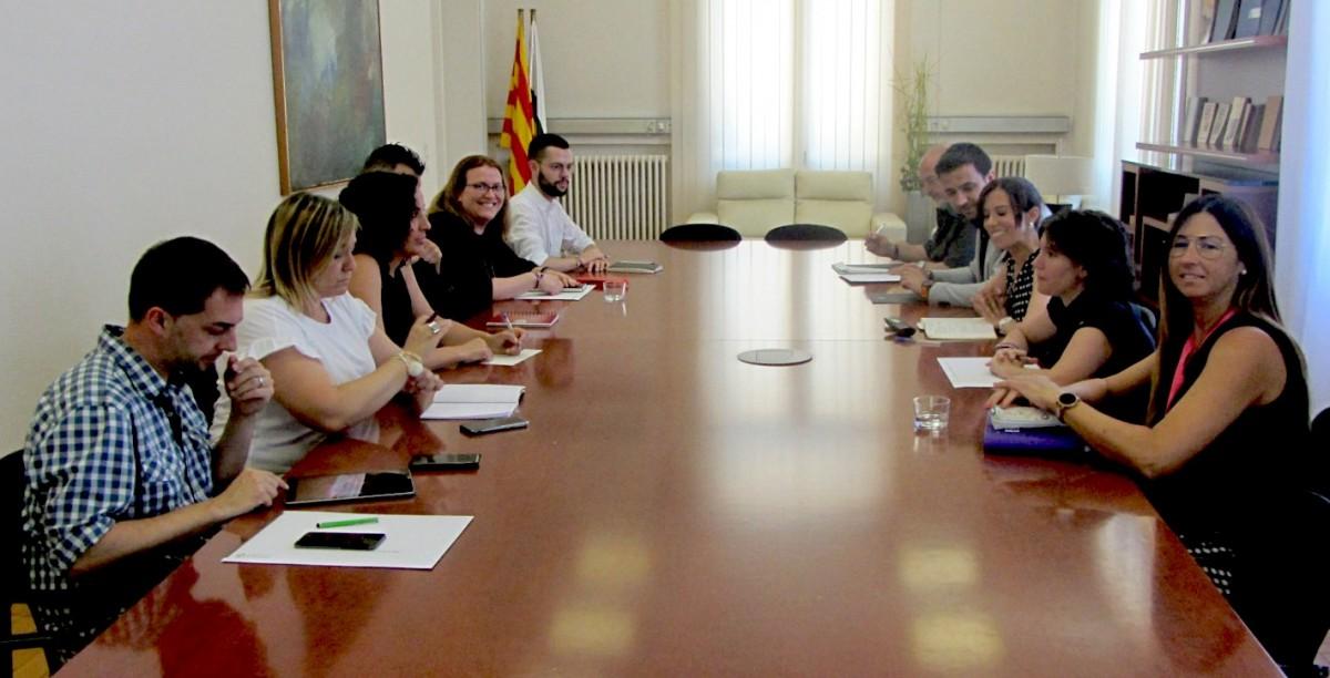 Primera reunió del govern de Sabadell