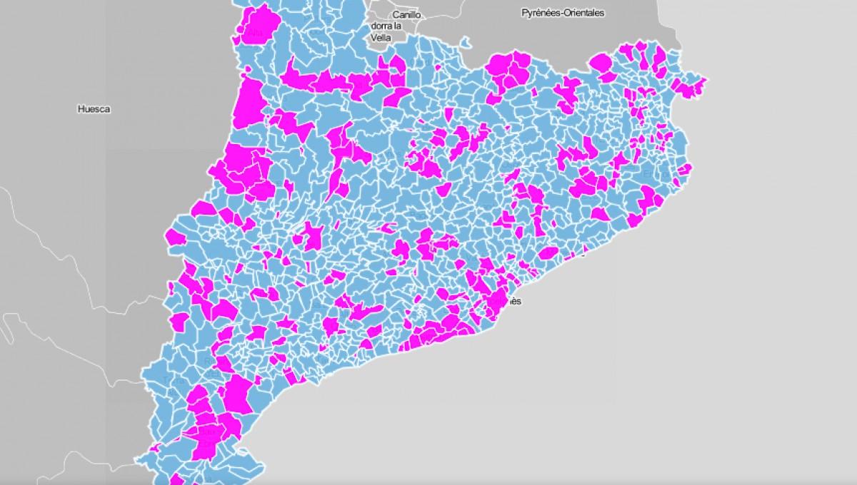 Mapa municipal, segons si l'ajuntament té alcalde o alcaldessa.