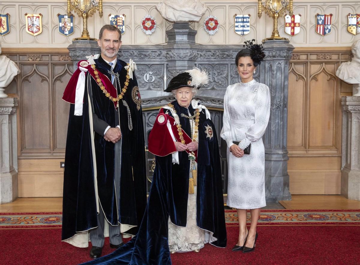 Felip VI, Letizia i la reina de la Gran Bretanya