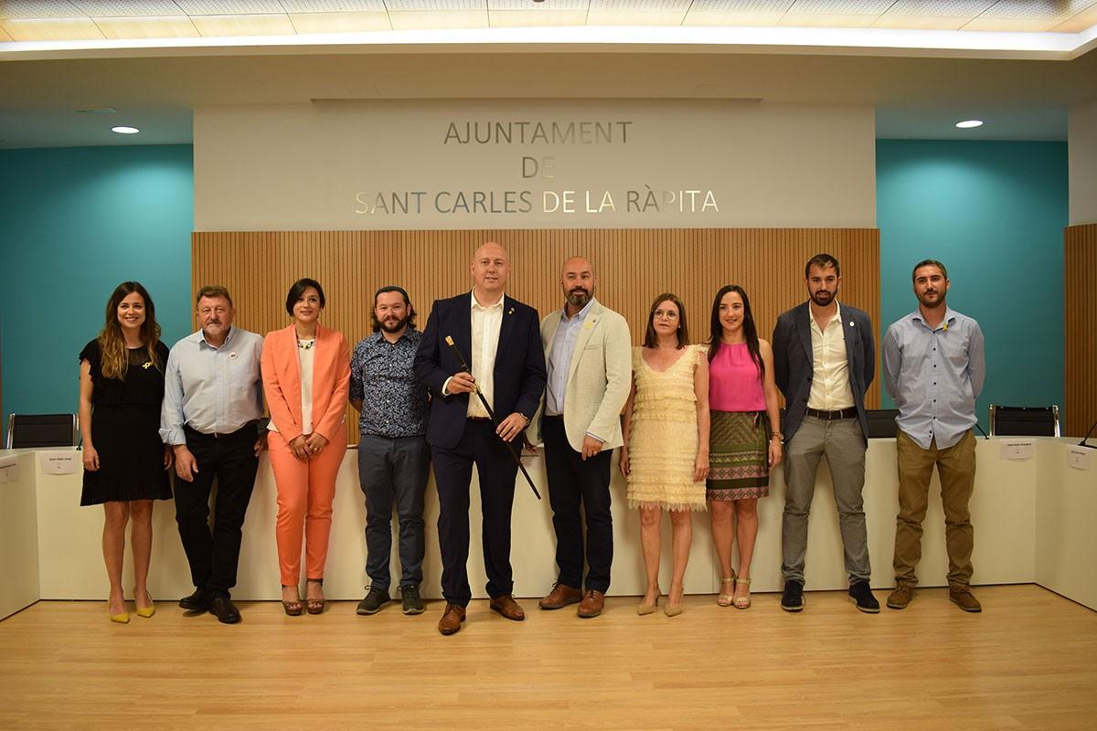 Els regidors i l'alcalde de la Ràpita per als pròxims quatre anys.