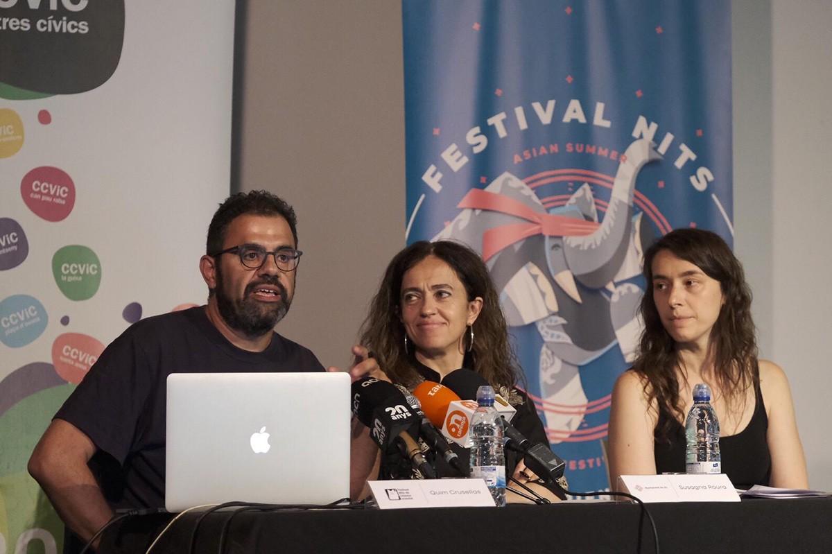 Durant la roda de premsa de presentació de la 16a edició del Festival Nits