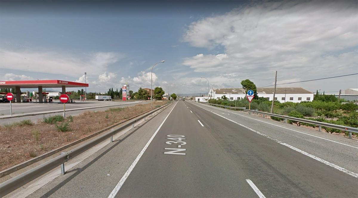 L'accident ha tingut lloc a l'N-340, a Amposta