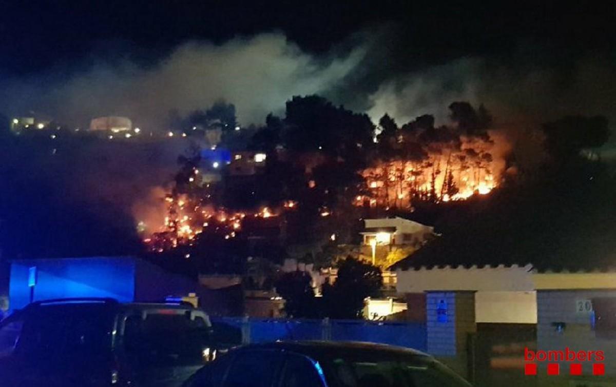 Incendi a Palafolls, al Maresme
