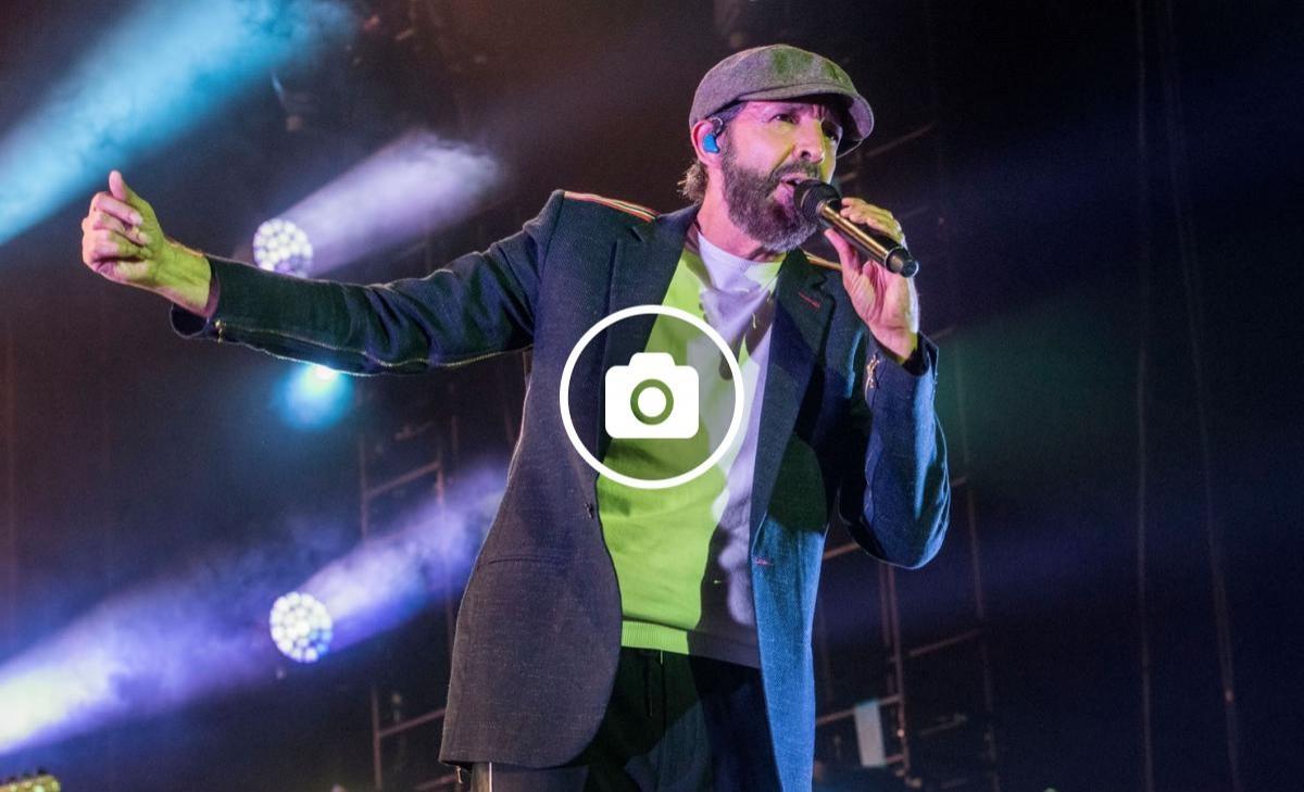 Juan Luis Guerra al seu concert al Palau Sant Jordi