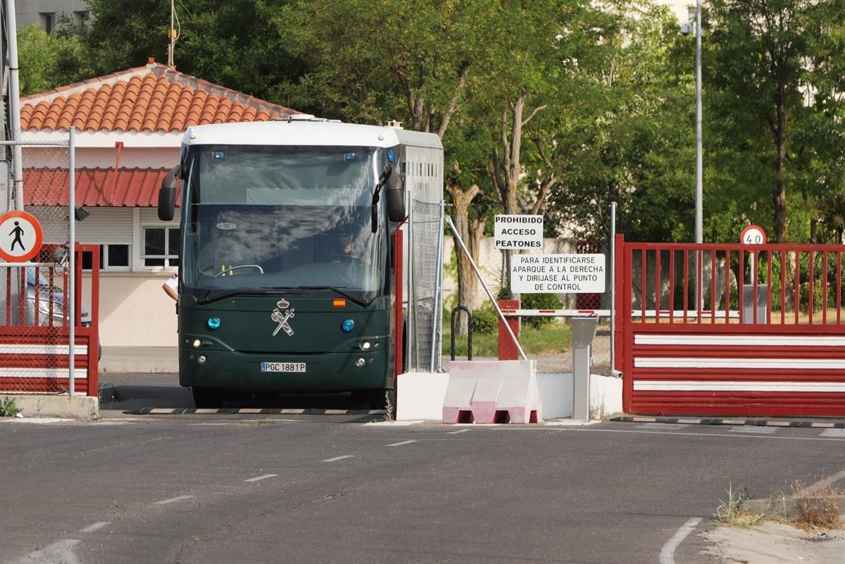 Els presos, camí de la presó de Zuera, a Saragossa