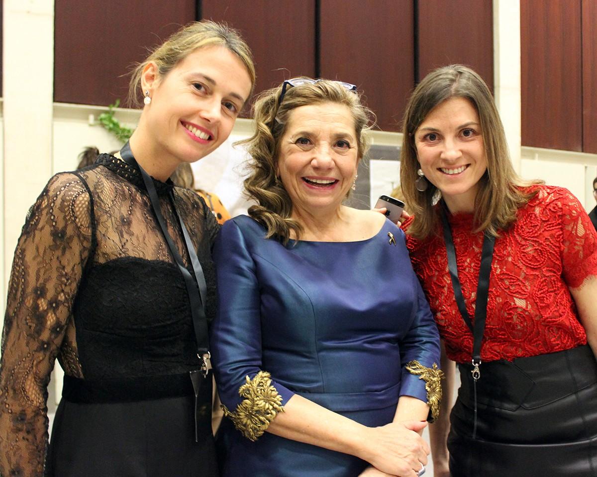 La Directora de Màrketing de Vallformosa, Jana Vives, Isona Passola i la CEO de Vallformosa, Marta Vidal