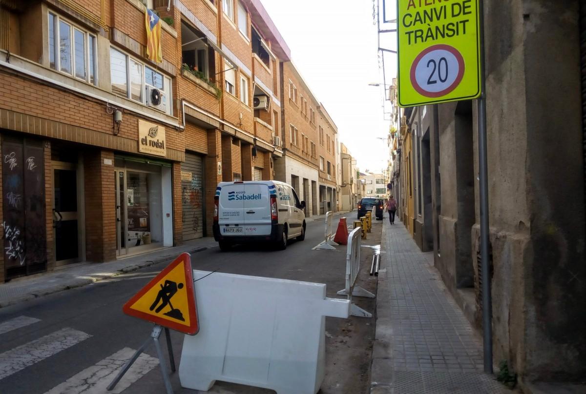 Unes obres al carrer, a Sabadell