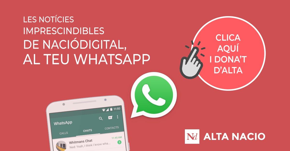 NacióDigital, al teu WhatsApp
