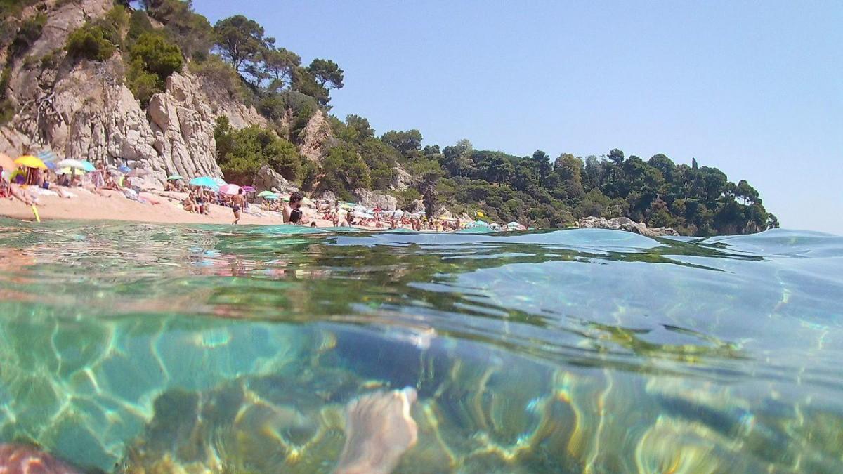 Una platja de Lloret de Mar