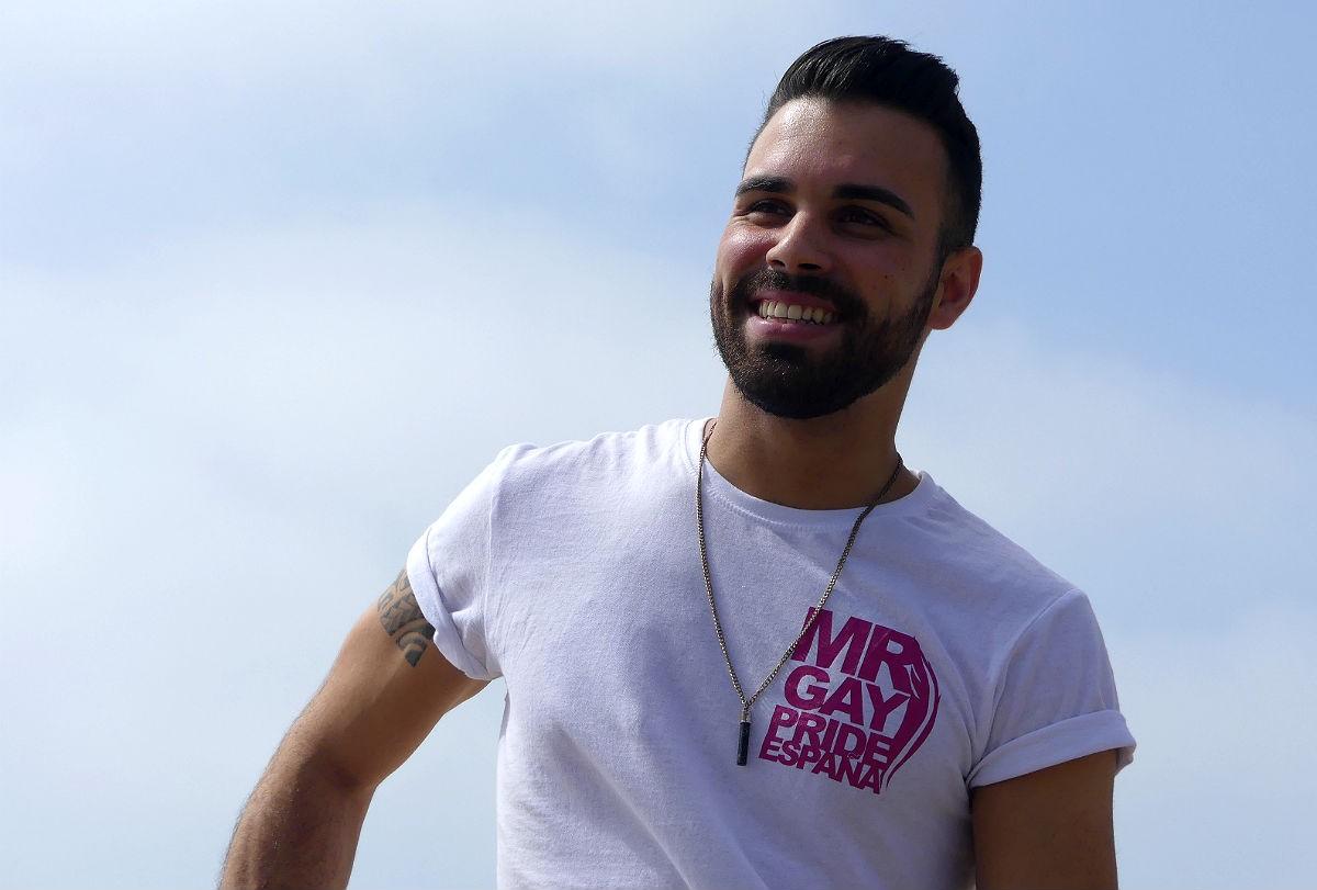 Óscar Giménez, Mr Gai Tarragona 2019, durant l'entrevista.