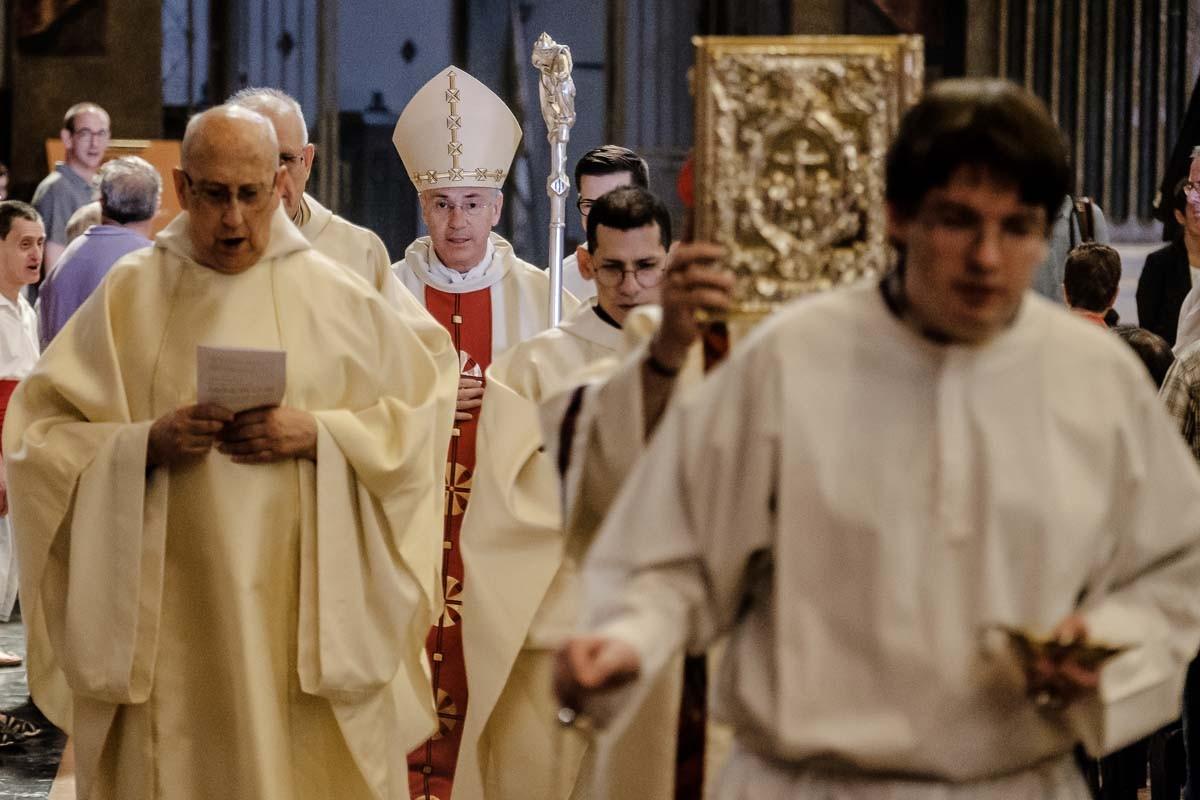 Durant el seguici de Sant Miquel dels Sants l'any passat