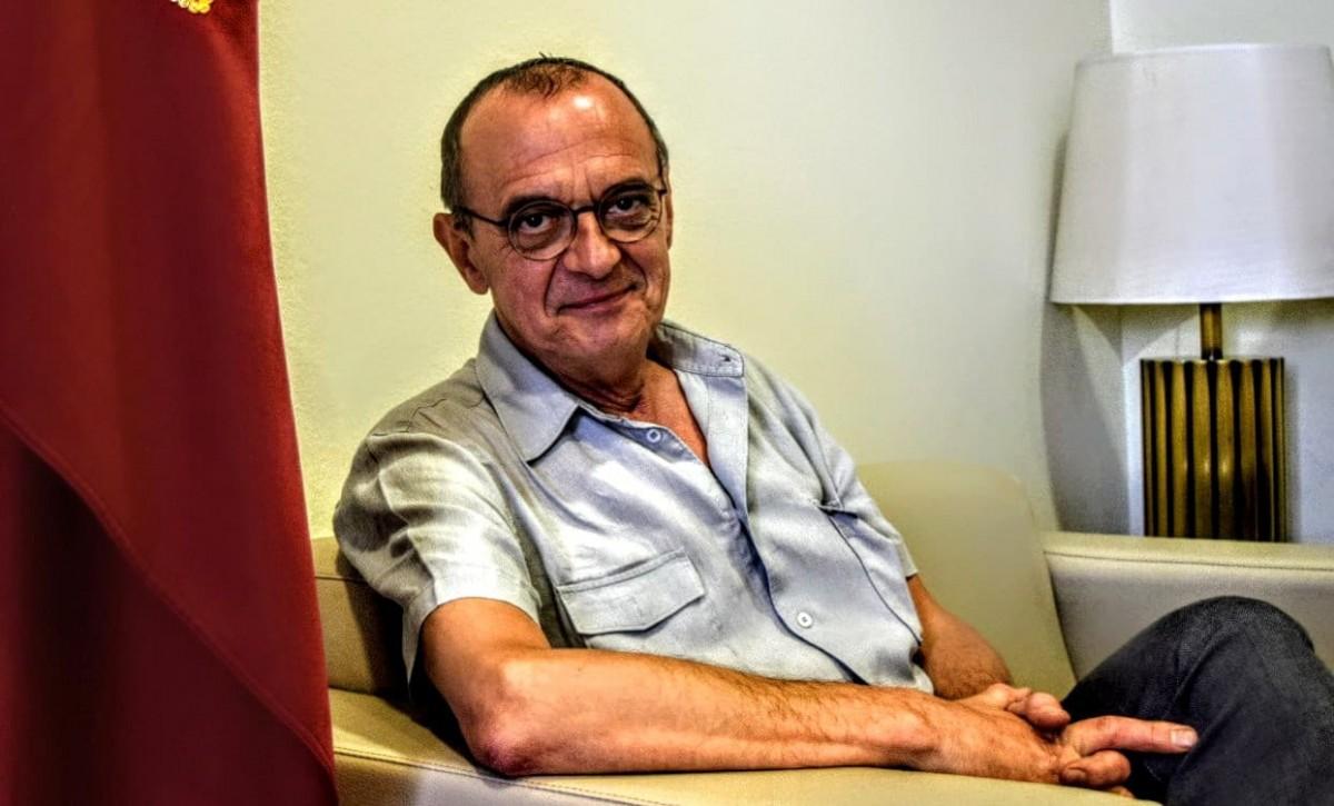 Miquel Pueyo, al despatx d'alcaldia de la Paeria