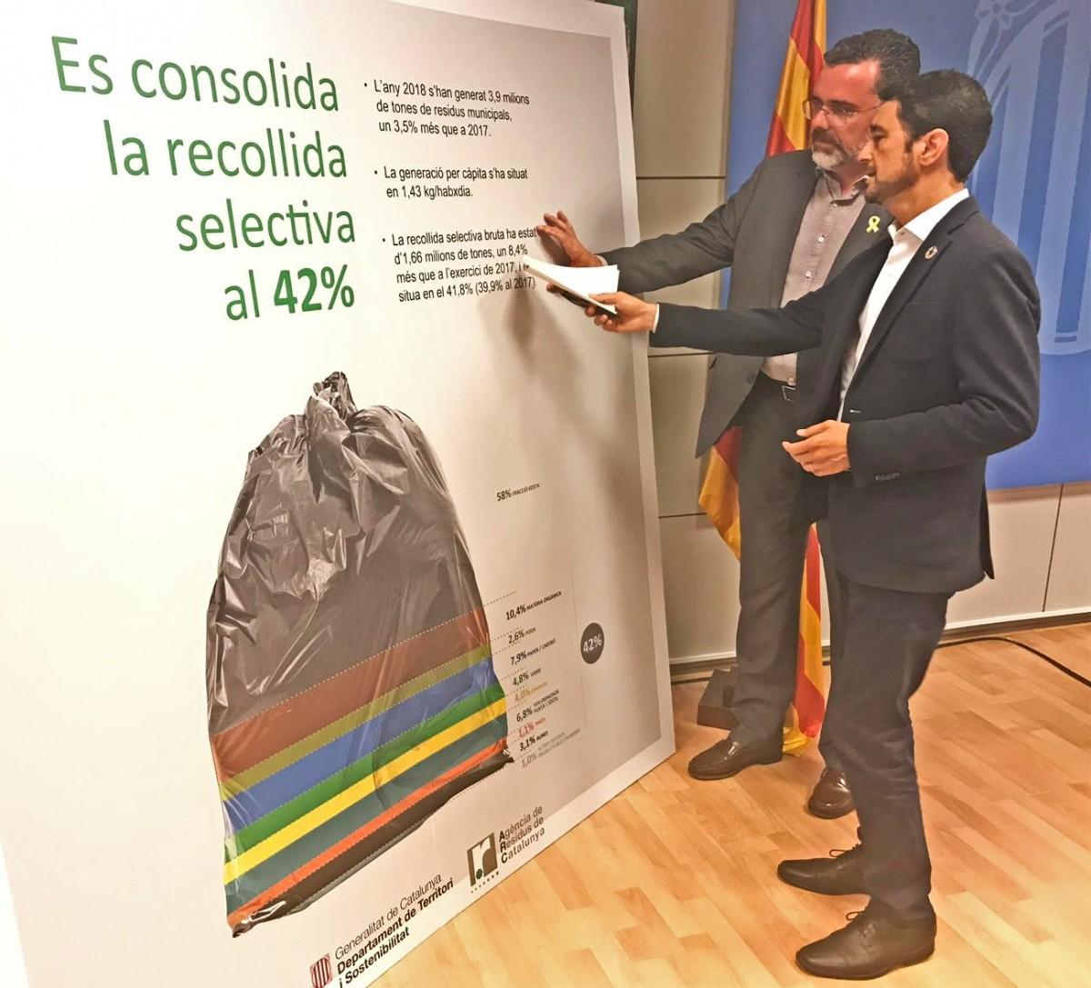 Damià Calvet i Josep Maria Tost, durant la presentació de les dades.