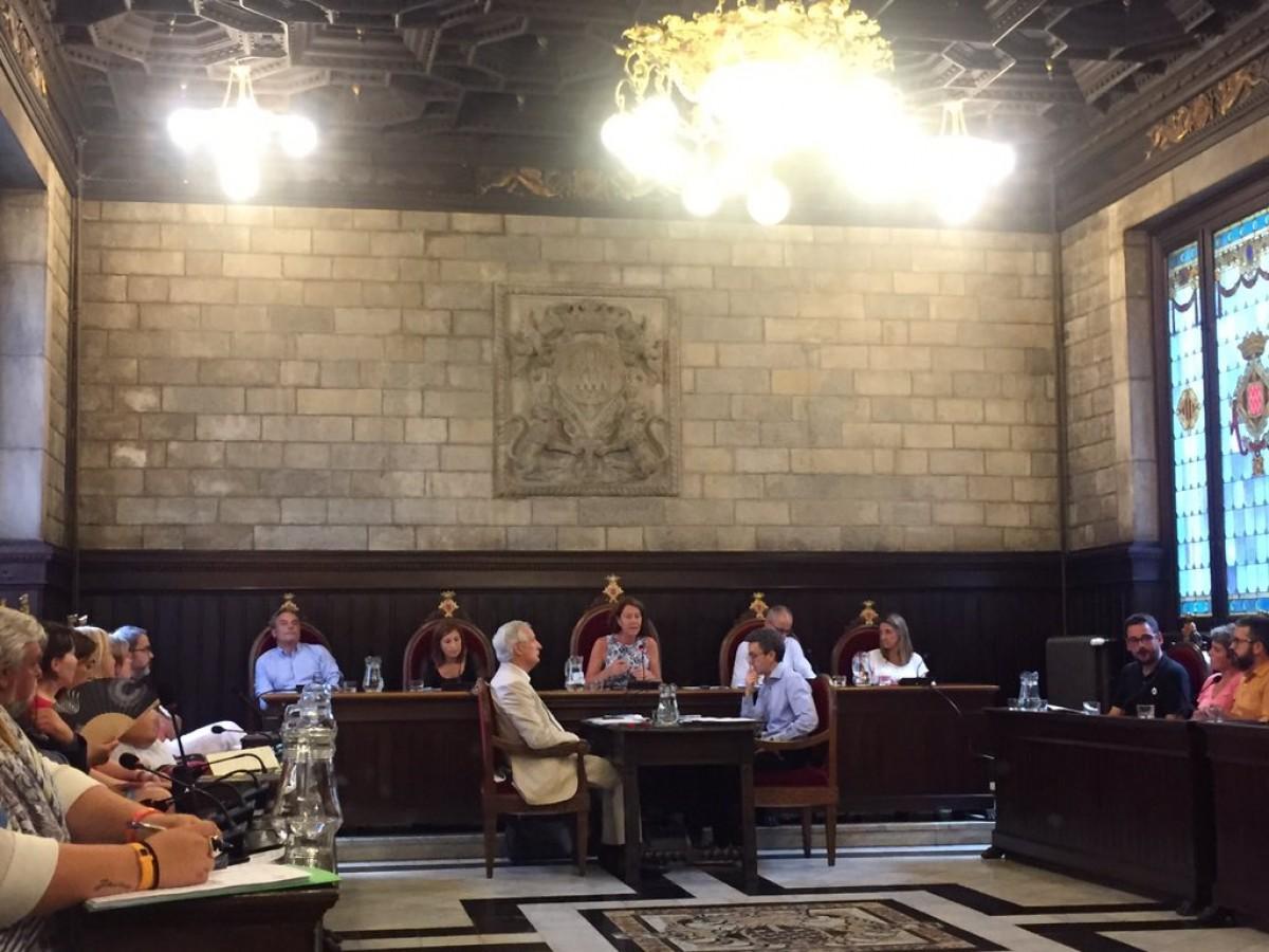 El ple exraordinari de l'Ajuntament Girona d'aquest 9 de juliol.