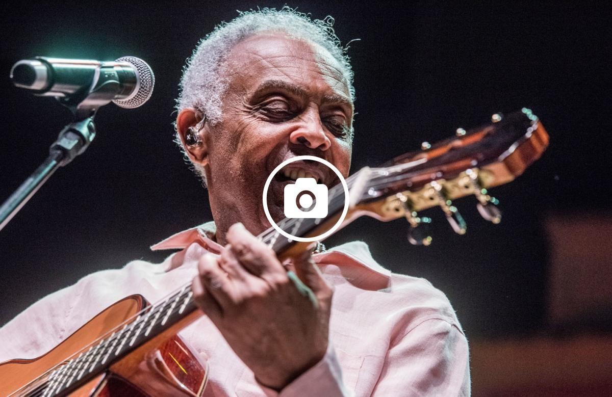Gilberto Gil al seu concert al Festival de Pedralbes