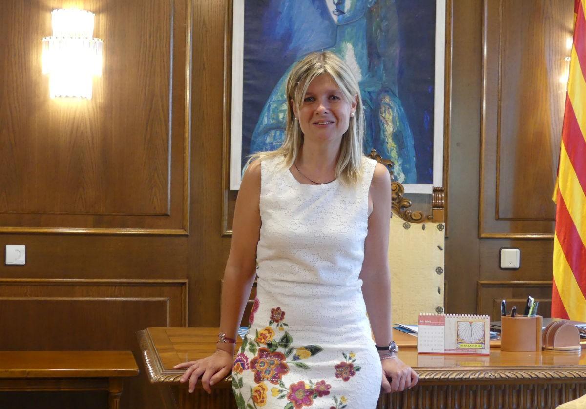 Noemí Llauradó, presidenta de la Diputació de Tarragona, durant l'entrevista.