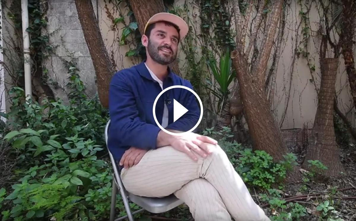 Joan Pons (El Petit de Cal Eril) a la redacció d'Enderrock