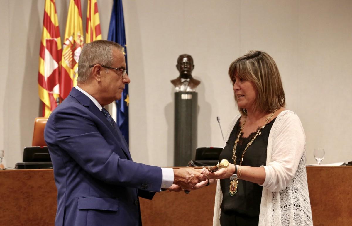 Núria Marín i Celestino Corbacho, aquest dijous a la Diputació