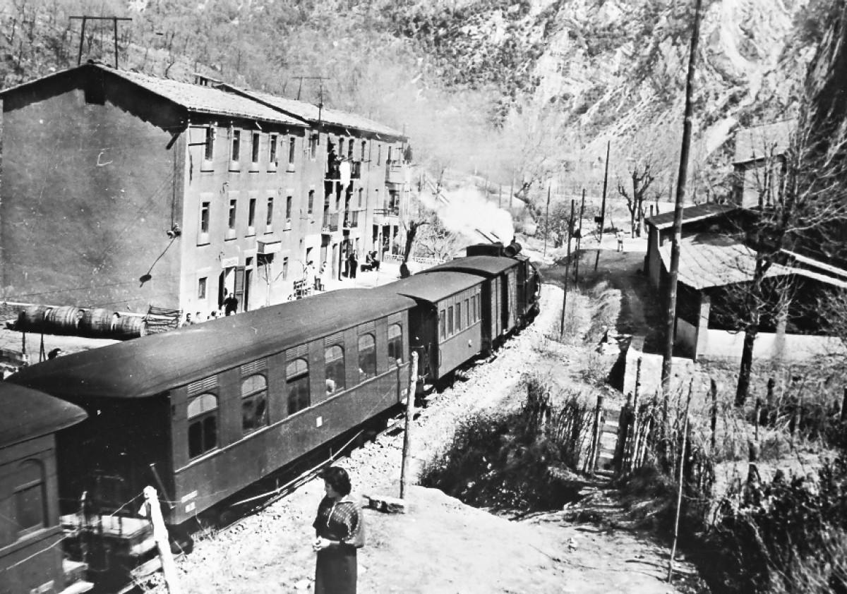 Arxiu Rosa Serra. Tren a Sant Salvador.
