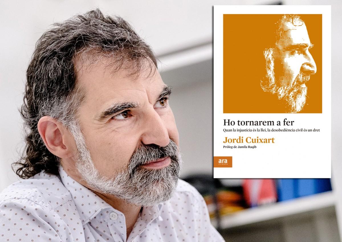 Jordi Cuixart i la portada del seu llibre