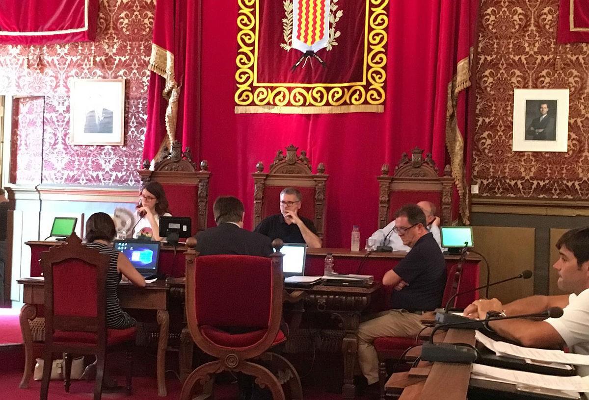 El ple celebrat aquest divendres a l'Ajuntament de Tarragona.