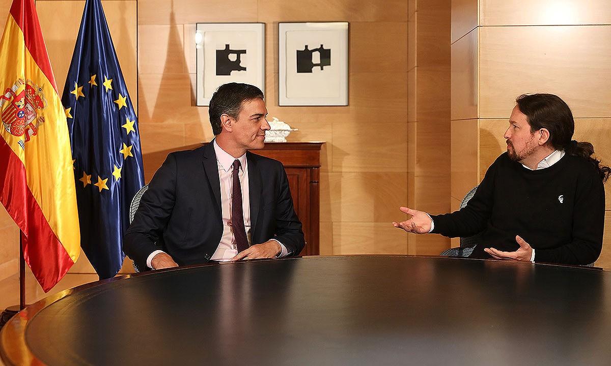 Pedro Sánchez i Pablo Iglesias, reunits al mes de juny