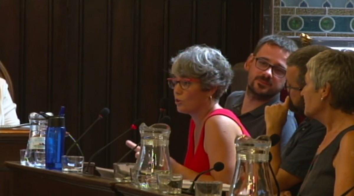 Carme Andreu, de Guanyem Girona, ha presentat la moció.