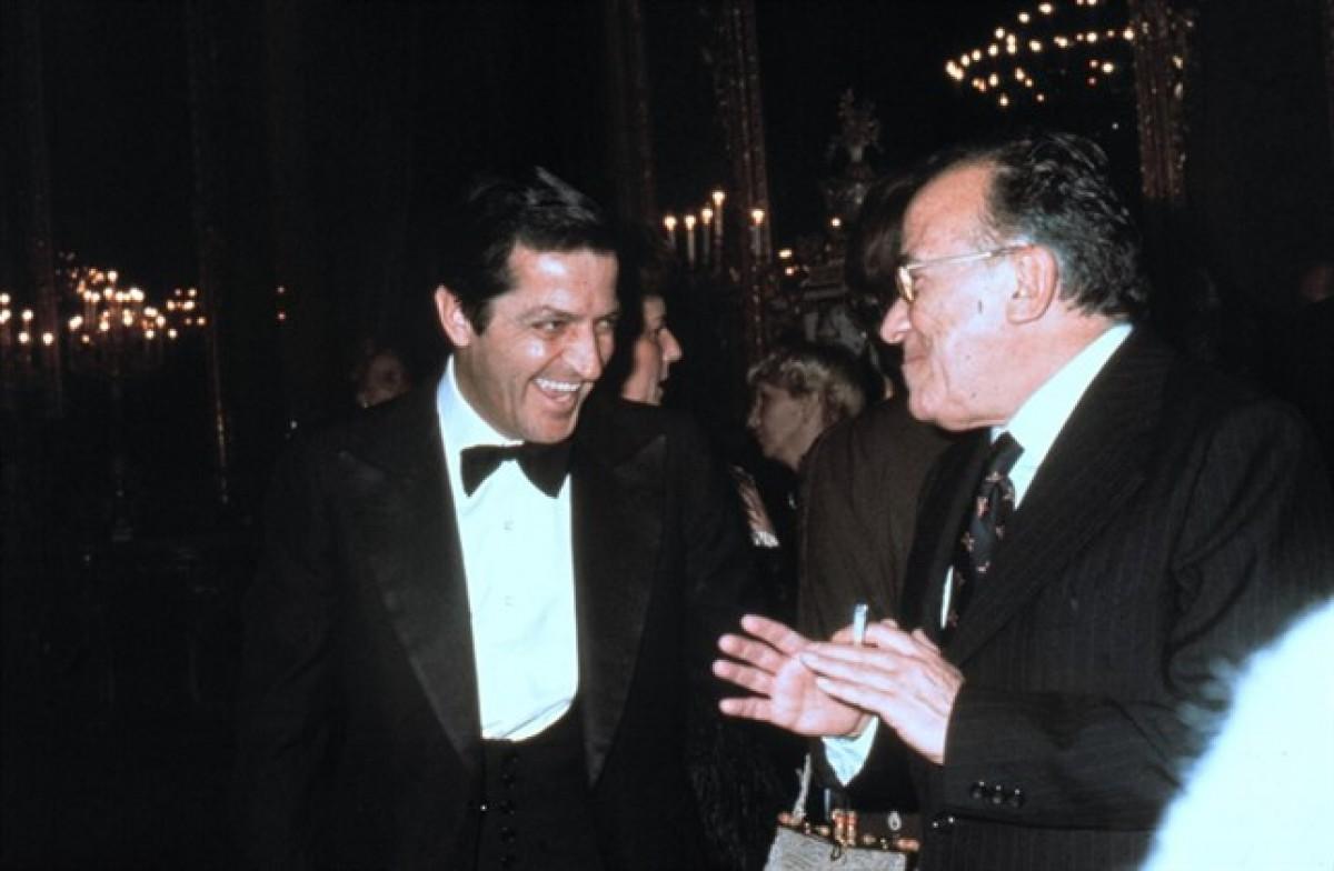 Suárez i Carrillo, en una recepció a Madrid.Suárez i Carrillo, en una recepció a Madrid.