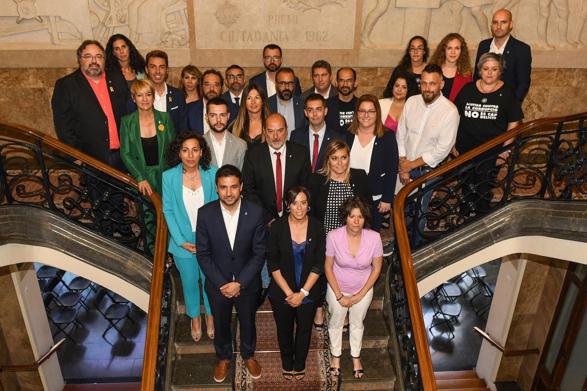 Els regidors de Sabadell, un cop constituït el ple al 2019