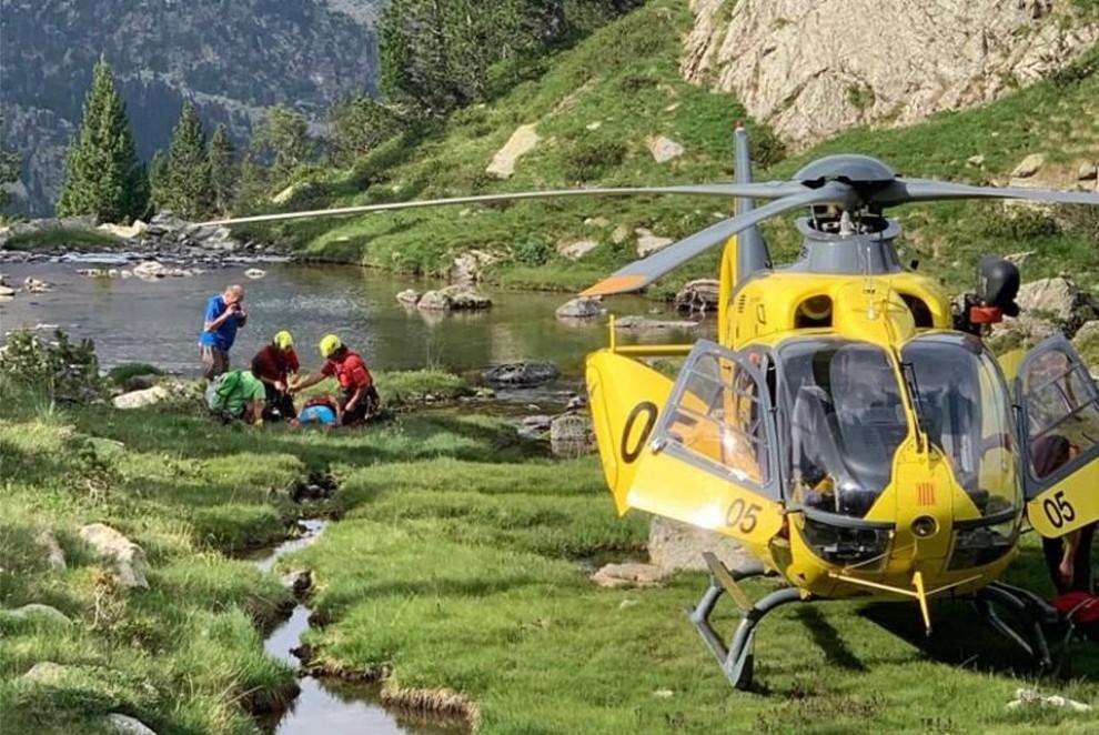 Un rescat dels Bombers en helicòpter